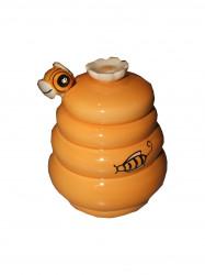 Pot céramique avec cuillère à miel