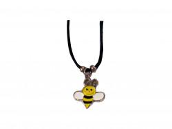 Collier abeille couleur en métal