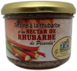 Terrine à la rhubarbe et au nectar de rhubarbe